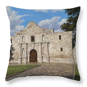 Throw Pillow featuring the painting The Alamo by Kyle Wood