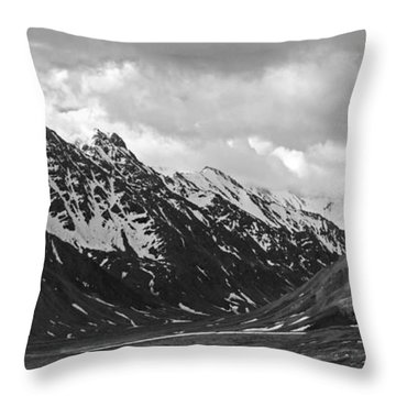 The Alaskan Range Throw Pillow