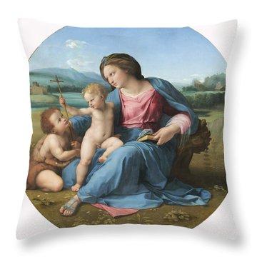 The Alba Madonna Throw Pillow
