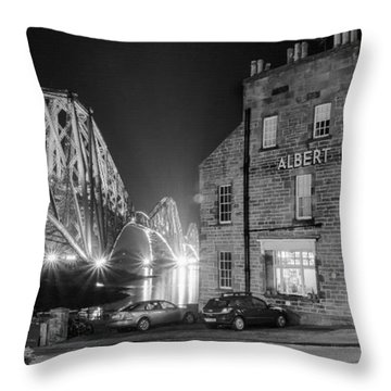 Throw Pillow featuring the photograph The Albert Hotel by Ross G Strachan