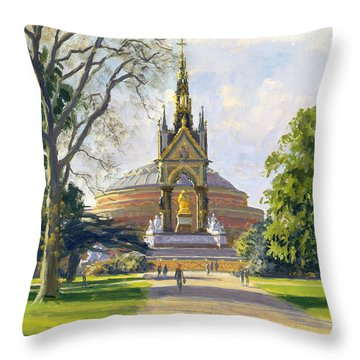 The Albert Memorial Oil On Canvas Throw Pillow