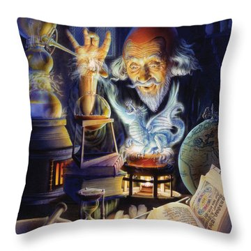 The Alchemist Throw Pillow by Andrew Farley