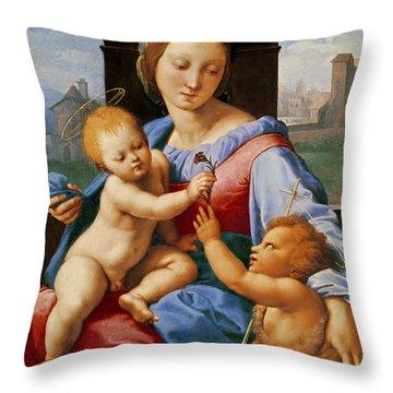The Aldobrandini Madonna Or The Garvagh Madonna Throw Pillow