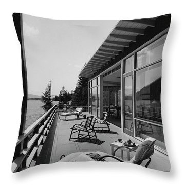 The Alfred Rose Lake Placid Summer Home Throw Pillow