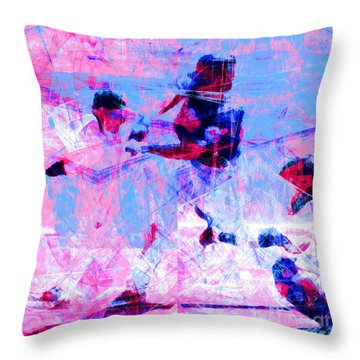 The All American Pastime 20140501 Square V2 Throw Pillow