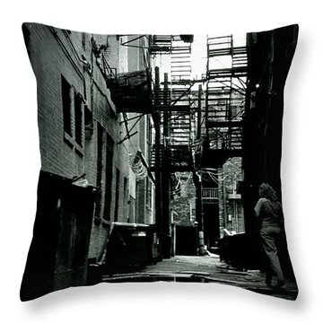 The Alleyway Throw Pillow by Michelle Calkins