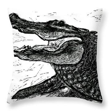 The Alligator Throw Pillow