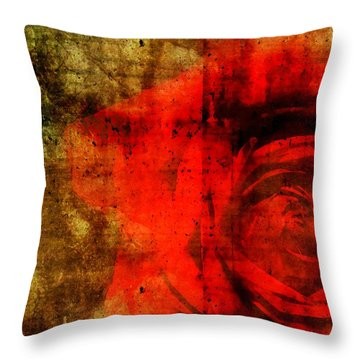 The Allure Of A Rose Throw Pillow by Brett Pfister