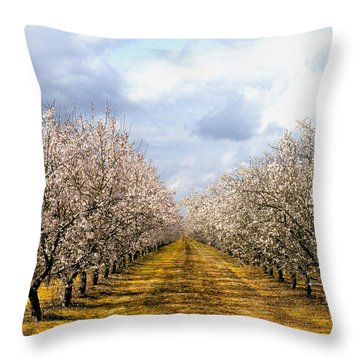 The Almond Orchard Throw Pillow