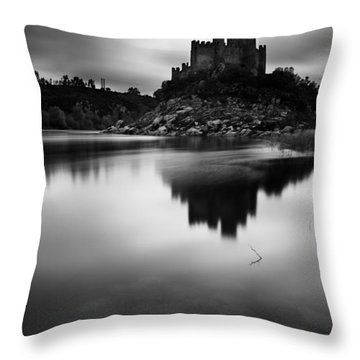 The Almourol Castle Throw Pillow by Jorge Maia