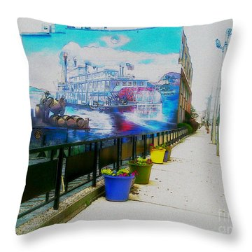 the Alton Belle in Fresco Throw Pillow
