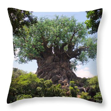 The Amazing Tree Of Life  Throw Pillow