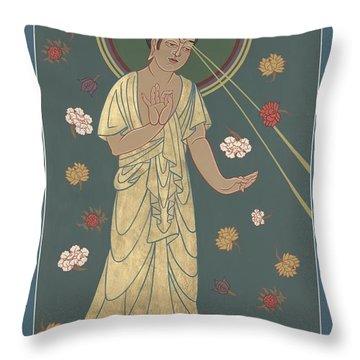 The Amitabha Buddha Descending 247 Throw Pillow