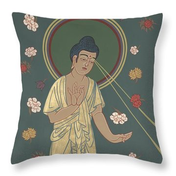 The Amitabha Buddha Descending 247 Throw Pillow