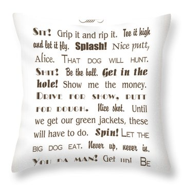 The Ancient Game Of Golf - Sepia Throw Pillow
