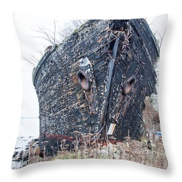 The Ancient Mariner's Ship Throw Pillow