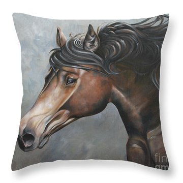 The Andalusian Throw Pillow by Debbie Hart