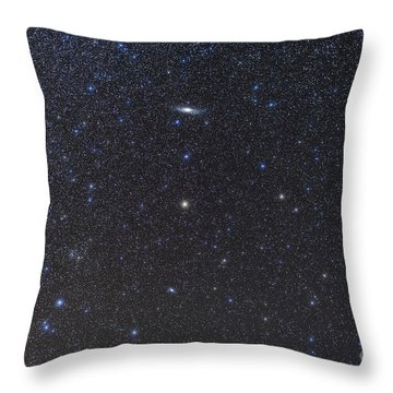 The Andromeda Galaxy And Triangulum Throw Pillow