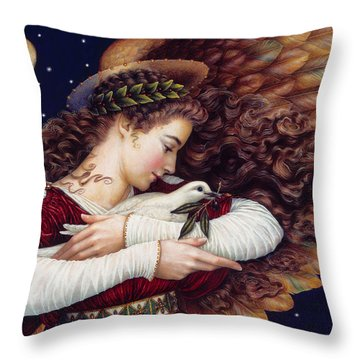 The Angel And The Dove Throw Pillow