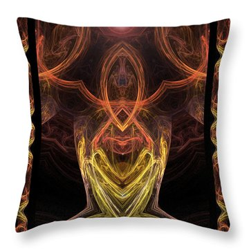 The Angel Of Meditation Throw Pillow