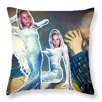 Throw Pillow featuring the painting The Angels Of Nothing by Lisa Piper