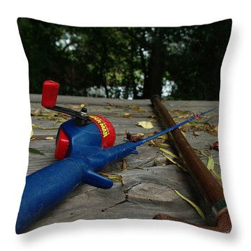 The Anglers Throw Pillow by Peter Piatt