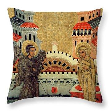 The Annunciation Throw Pillow by Fedusko of Sambor