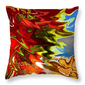 The Answer Throw Pillow by Linda Cox