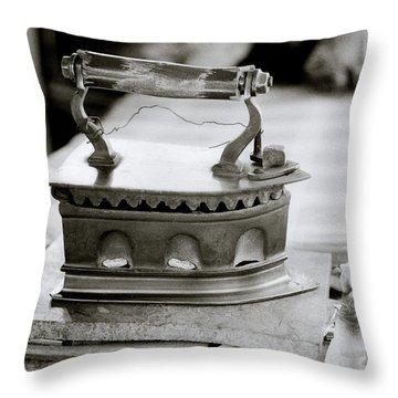 The Antique Iron Throw Pillow