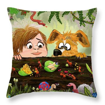 The Ants Go Marching Throw Pillow