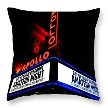 The Apollo Theater Throw Pillow by Ed Weidman
