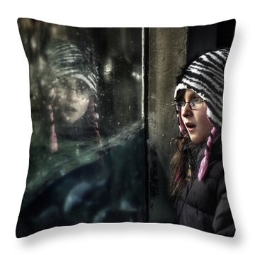 Throw Pillow featuring the photograph The Apparition by Michel Verhoef