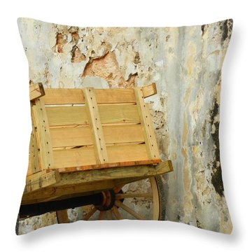 The Apple Cart Throw Pillow