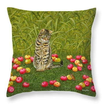 The Apple Mouse Throw Pillow by Ditz