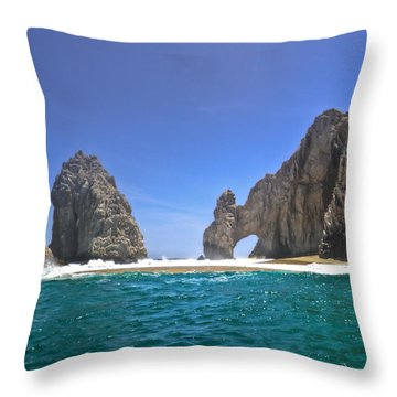 The Arch  Cabo San Lucas On A Low Tide Throw Pillow