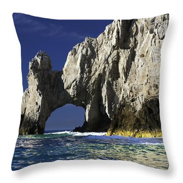 The Arch Cabo San Lucas Throw Pillow