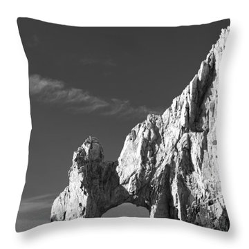 The Arch In Black And White Throw Pillow