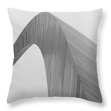 The Arch In St. Louis Missouri Throw Pillow by Jane Eleanor Nicholas