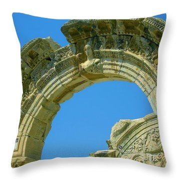 The Arch Of Diana Throw Pillow