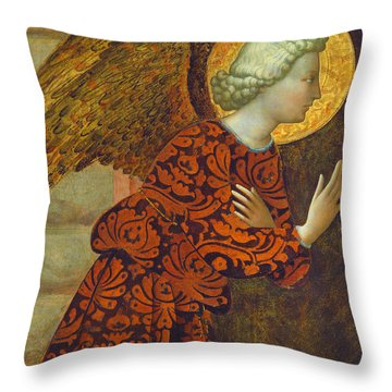 The Archangel Gabriel Throw Pillow by Tommaso Masolino da Panicale
