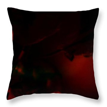 Throw Pillow featuring the photograph The Architect Of Red  by Jessica Shelton