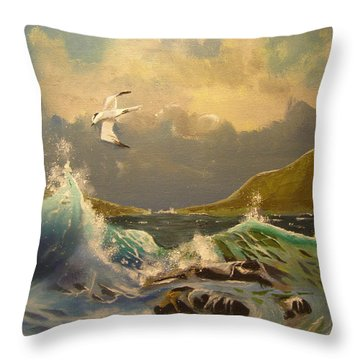 The Arctic Tern Throw Pillow