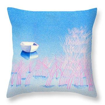 The Arrival Throw Pillow by Daniele Zambardi