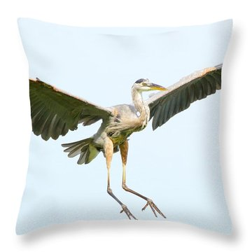 Throw Pillow featuring the photograph The Arrival by Heather King
