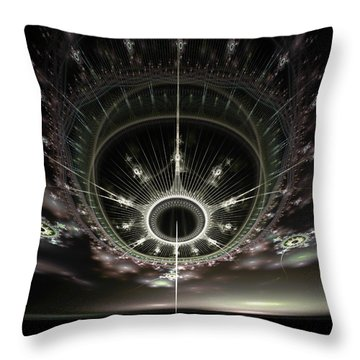 Throw Pillow featuring the digital art The Arrival by Richard Ortolano
