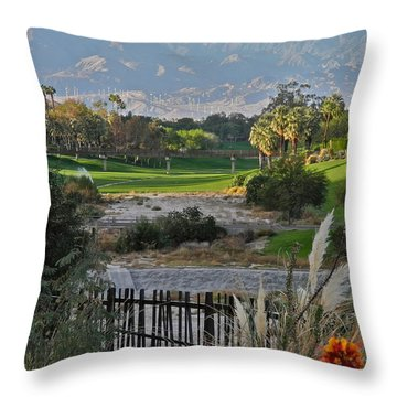 The Arroyo In Rancho Mirage Throw Pillow by Kirsten Giving