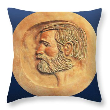 Throw Pillow featuring the painting The Art Director by Dan Redmon