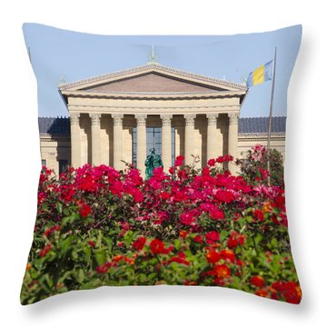 The Art Museum In Summer Throw Pillow by Bill Cannon