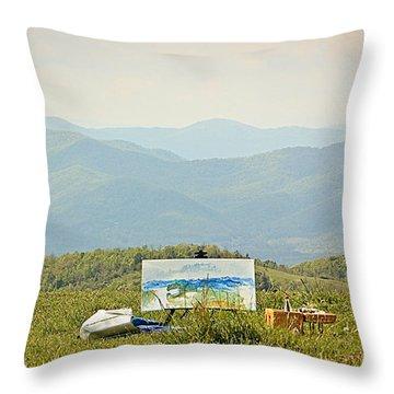 The Art Of Art Throw Pillow by Tammy Schneider