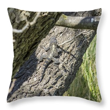 The Art Of Camouflage Throw Pillow by Arik Baltinester